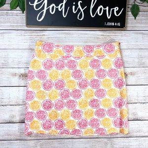 Vineyard Vines lemon mini skirt. Sz 8